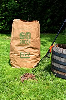 Tapix Lawn and Leafs Bags 30 Gallon • Lawn & Leaf Refuse Bags • Environmental Friendly Leaf Bags Paper (24 Count)
