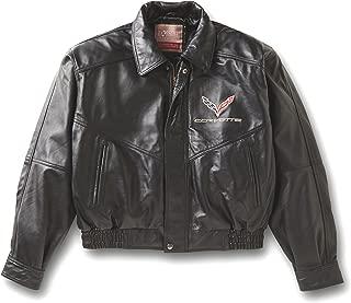 Corvette C7 Emblem Lambskin Bomber Jacket (Medium) Black