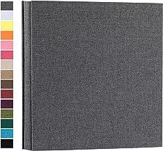 آلبوم عکس potricher برای 4x6 1000 عکس جلد کتانی کتاب عکس با ظرفیت فوق العاده بزرگ برای کودک سالگرد ازدواج خانوادگی (خاکستری ، 1000 جیب)