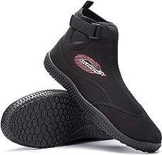 Osprey OSX Aqua Wetsuit laarzen voor volwassenen, verstelbare surfschoenen met TPR-zool voor dames en heren, zwart