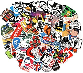 CHNLML Love Sticker Pack 100-Pcs,Cool Sticker Decals Vinyls for Laptop,Kids,Cars,Motorcycle,Bicycle,Skateboard Luggage,Bumper Stickers Hippie Decals Bomb Waterproof(Not Random) (B)