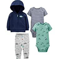 Simple Joys by Carter's Baby Boys' 4-Piece Jacket, Pant, and Bodysuit Set