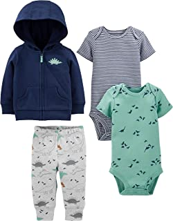 Simple Joys by Carter's 4-Piece Jacket, Pant, and Bodysuit Set Bébé garçon