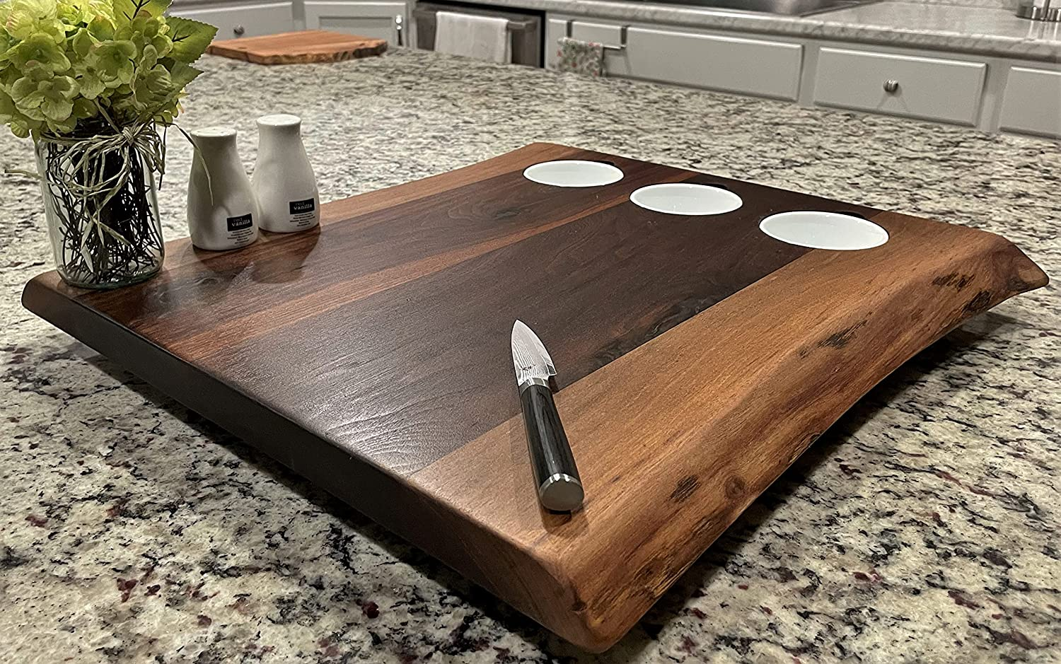 Black Walnut XL Forest-to-Table Double Edge Board Wholesale Live Appetizer Outstanding