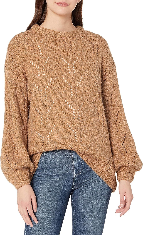Max 88% OFF J.O.A. mart Women's Balloon Pointelle Sleeve Sweater