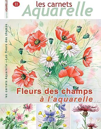 Les carnets aquarelle n°11: peindre les fleurs des champs à l'aquarelle (French Edition)