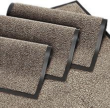 GadHome Deurmat voor binnen en buiten, voor binnen en buiten, deurmat voor entrees, schoon, antraciet-zwart