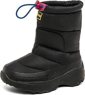 MORENDL Boys Girls Winter Snow Boots 100% Waterproof Warm Anti-Slip Mid Calf for Little Kids, Big Kids
