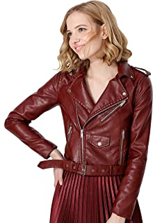 Best brown leather moto jacket Reviews