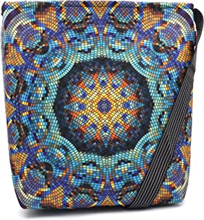 Bertoni Funky Damen Handtasche 2-in-1 Schultertasche und Umhängetasche mit Reißverschluss Innentaschen aus Filz Große Tasc...