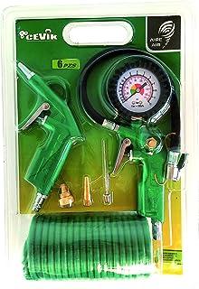 comprar comparacion Cevik CA-CK220 - Kit aerográfico para compresor. 6 piezas: pistola de soplar, hinchador, espiral 5 mt. y 3 boquillas