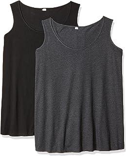 ملابس كليمينتين للنساء 2 عبوة كبيرة الحجم من تانك توب للسيدات مقاس كبير (3821)