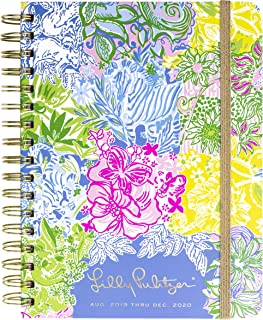 "$22 » Lilly Pulitzer Large Aug. 2019 - Dec. 2020 17 Month Hardcover Agenda, 8.88"" x 6.75"" Personal Planner with Monthly and Weekly Spreads, Cheek to Cheek"