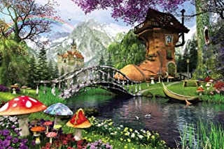 Agirlgle Jigsaw Puzzles 1000 Pieces for Adults for Kids-Old Shoe House,Every Piece is Made of Basswood,Softclick Technolog...