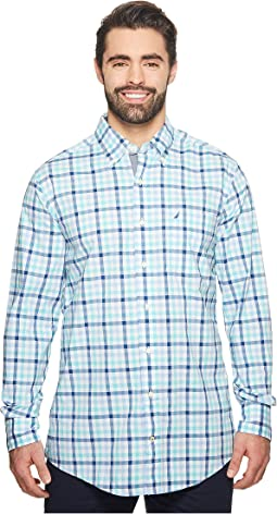 Nautica Big & Tall - Big & Tall Gingham Plaid Woven Shirt