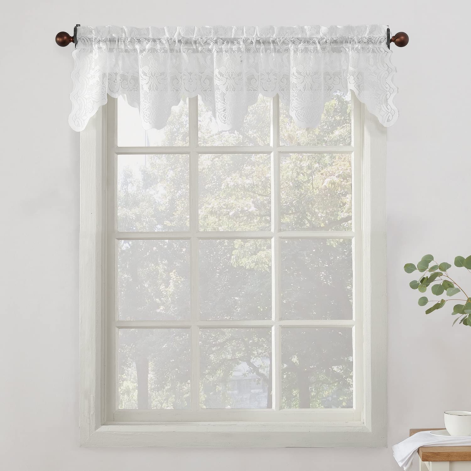 No. Popular brand in the world 918 48922 Alison Very popular Sheer Lace Valance Curtain x 1 58