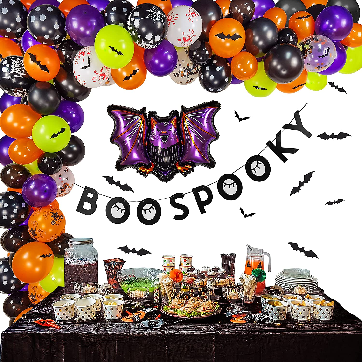 Halloween Balloon Garland Arches Page Four