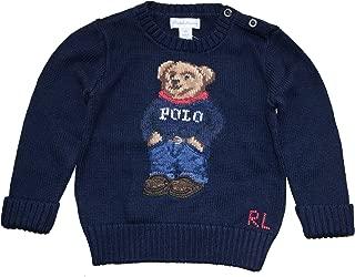 Baby Boy Girl Polo Bear Sweater 12 M Navy