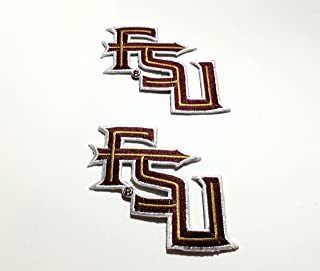 2 FSU Seminoles Embroidered Iron on Patch Set Florida State M