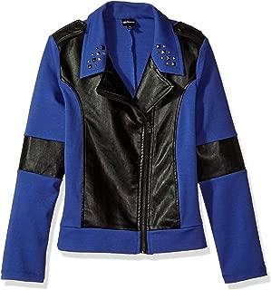 Girls' Big Descendants Colorblock Moto Jacket