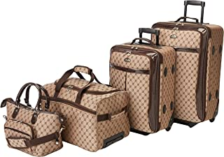American Flyer Luggage Signature 4 Piece Set, Brown, One Size
