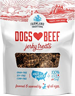Farmland Traditions Filler Free Dogs Love Beef Premium Jerky Treats for Dogs