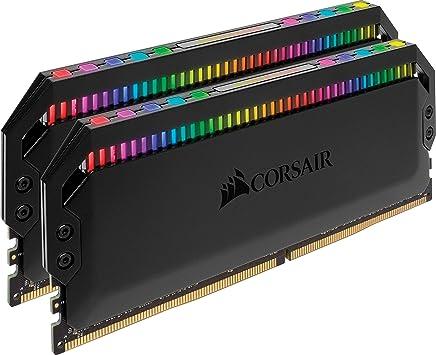 CORSAIR Dominator Platinum RGB 16GB (2x8GB) DDR4 3200 (PC4-25600) C16 1.35V, Optimized for AMD DDR4 Systems
