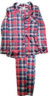 Blue Cove & Red Plaid 2 Piece Notch Collar Long Sleeve Pajama Sleep Set
