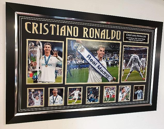 Neuf Cristiano Ronaldo Ligue des Champions Photo dédicacée vainqueurs Match Programme
