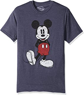 Men's Full Size Mickey Mouse Distressed Look T-Shirt