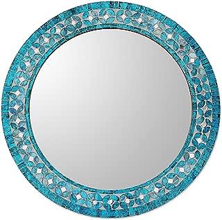 round blue mirror
