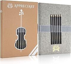 "AppreciArt Sketchbook and Pencils HB B 2B 4B 6B 8B, 8.5x11"", 80lb/120gsm, 55 Sheets(110pgs), Sketchbook Hardcover, Sketch Pad, Blank Notebook, Drawing Paper, Sketchbooks for Travel Sketching"