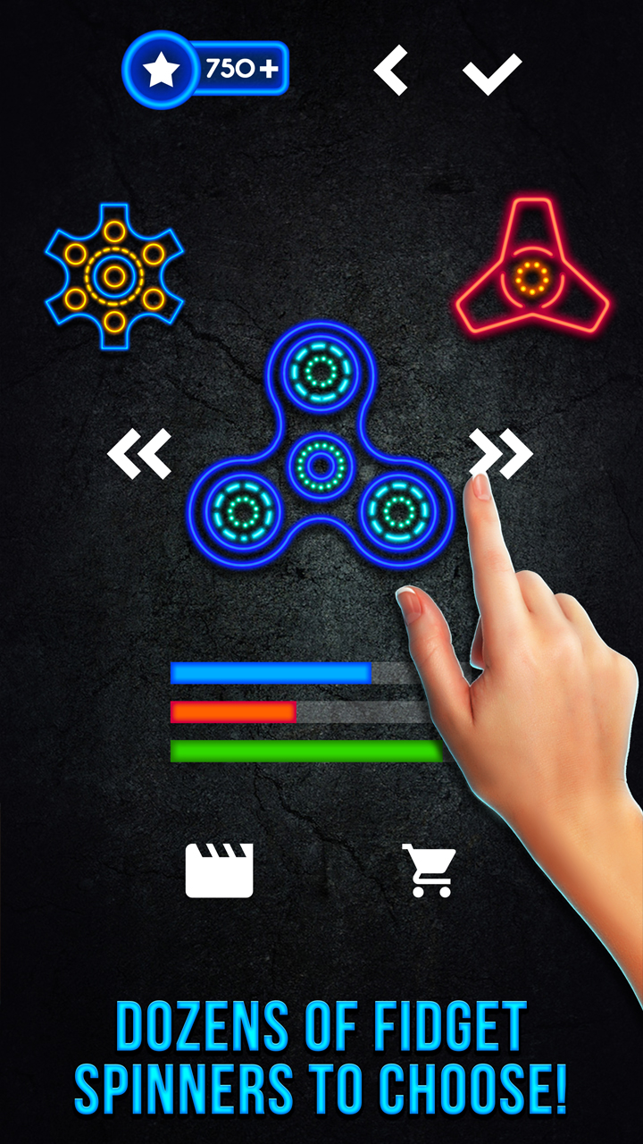 Awesome Fidget Spinner Game: Hand Spinning Toy | Rest and Relax Swiping Simulator