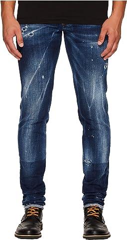 DSQUARED2 - Field Flower Wash Slim Jeans in Blue