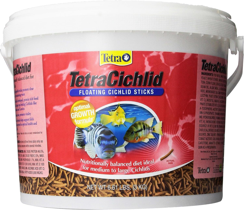 Large Cichlids 6.61-Pound TetraCichlid Floating Cichlid Sticks for Medium
