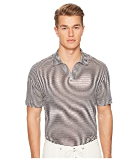 Fine Stripe Linen Polo
