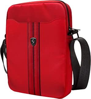 Ferrari Mixed Sleeve Tablet Bag 8 inches - Red