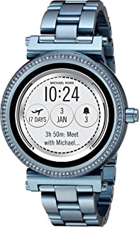 Michael Kors Access Women's 'Sofie Touchscreen' Quartz Stainless Steel Casual Watch, Color:Blue (Model: MKT5042)