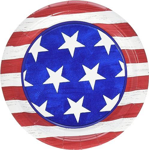 Envio gratis en todas las ordenes Amscan Americana Americana Americana Dessert Plates Patriotic 4Th of July Party Disposable Tableware (50 Piece), MultiColor, 7 by Party America  envío rápido en todo el mundo