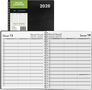 2020 Weekly Planner Appointment Book, 8.5 x 11 inches, Daily Hourly Planner Black