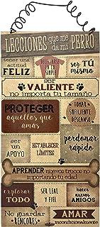 AÑORANZA, Letrero decorativo de madera, Lecciones Perro