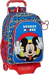 Mochila Escolar con Carro 905 de Mickey Mouse Me Time, 330x140x420mm