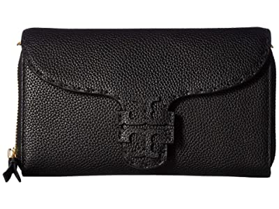 Tory Burch McGraw Wallet Crossbody (Black 1) Cross Body Handbags
