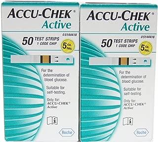 accu chek active test strips 100 glucometer