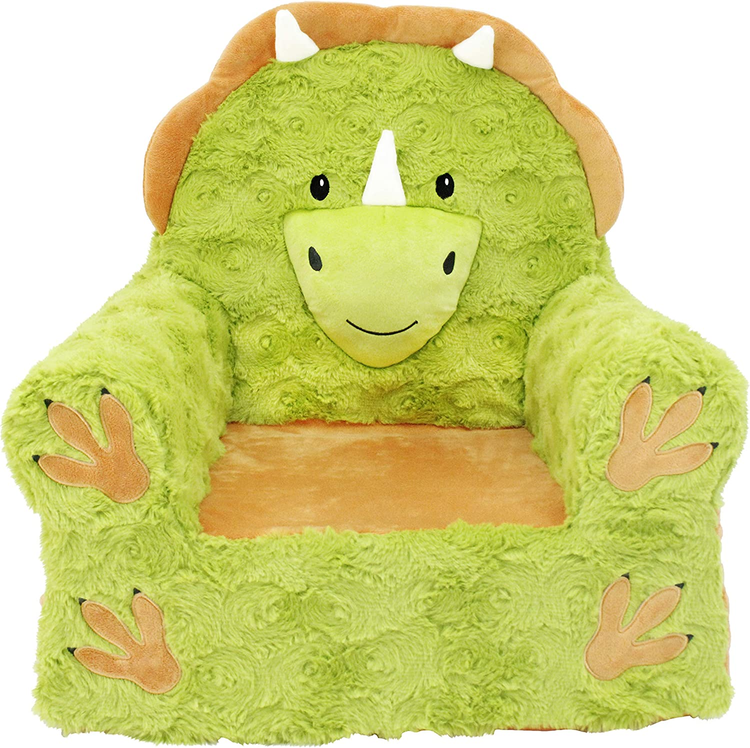 Soft Landing Sweet low-pricing Popular products Seats Premium Children's Triceratops Green