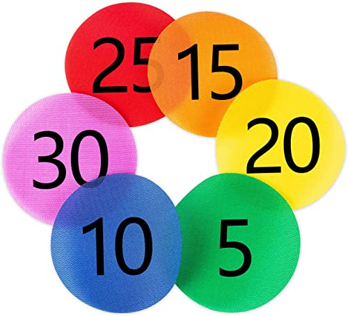 wholesale Carpet Spot Sit sale Markers x 30 discount Classroom Circles with Numbers 1-30 for Teachers (6 Colors) outlet sale