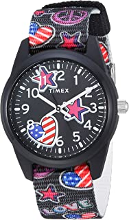 Girls TW7C23700 Time Machines Black/Stars & Flags Nylon...