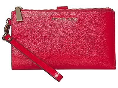 MICHAEL Michael Kors Jet Set Double Zip Wristlet (Bright Red) Handbags
