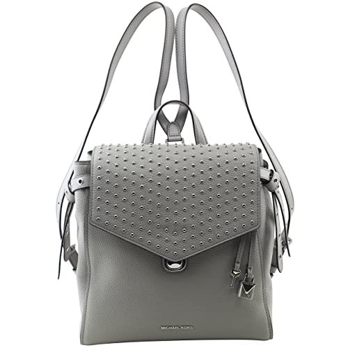 be75cb32e23d6 MICHAEL Michael Kors Women s Bristol Medium Studded Leather Backpack in Pearl  Grey