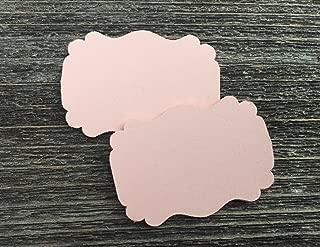 50 Blank Blush Scalloped Edge Bracket Hang Tags Tag - Baby Girl Birthday Wedding Party Card
